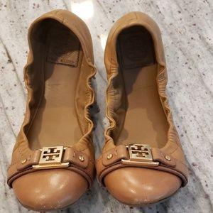 Tory Burch leather flats Sz 8